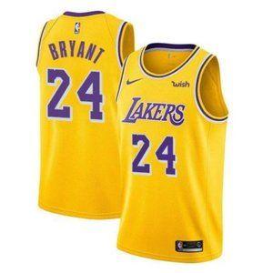 Women Lakers #24 Kobe Bryant Swingman Jersey Gold